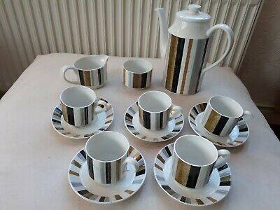 Midwinter China Coffee Set. 13 Pieces. Good Cond. • 25£
