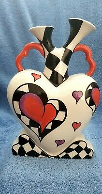 Lorna Bailey Ceramic Heart Shaped Valentine Vase (rare) Highly Collectable • 75£