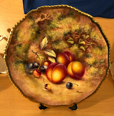 Royal Worcester Plate Hand Painted Signed Freeman Diameter 26.5 Cms Peaches  • 750£