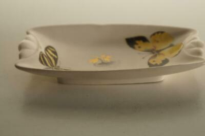 A Lovely Small Axe Vale Pottery Pin Dish With Butterfly Design. • 8.99£