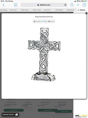 Galway Crystal Celtic Cross Ex Display No Box Hence Price Reduction • 29£