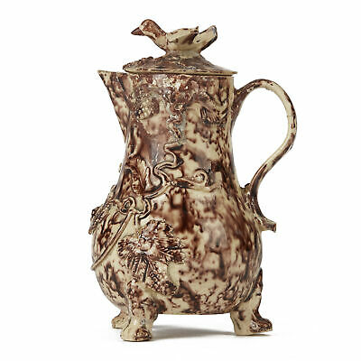 Whieldon Cream Ware Lidded Pottery Milk Jug C.1750-80 • 400£