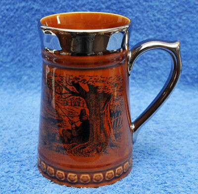 Vintage Lord Nelson Pottery Fishing Angling Design Ceramic Tankard • 3.99£