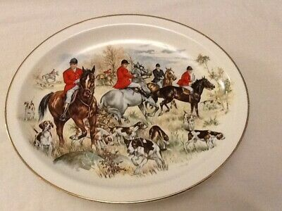 Harry Hancock Tunstall Ltd. Hunting Scene Oval Platter. • 9.99£