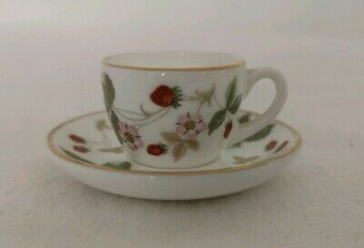 Wedgwood Bone China Miniature Wild Strawberry Cup & Saucer  • 16.50£