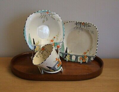 Burleighware Tea Cup, Saucer & Side Plate In RIVIERA On Imperial Shape • 25£