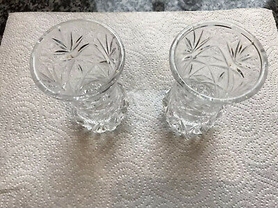 """A Pair Of Waterford Lead Crystal Cut Glass Vases 4.5"""" Tall. 304gram Each VGC • 14.98£"""