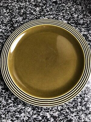 VINTAGE HORNSEA HEIRLOOM GREEN LARGE DINNER PLATE 10 Inch VGC • 9.95£