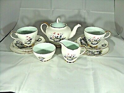 Pretty Vintage Adderley Tea Set For Two Including Teapot • 38£