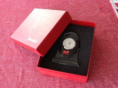 Original Baccarat Crystal Tranquility Pendulette Crystal Clock W/ Box & Papers • 175£