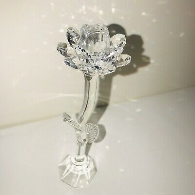 Clear Crystal Rose Gift I LOVE YOU Ornament Wife Girlfriend Fiancee Anniversary  • 10.75£