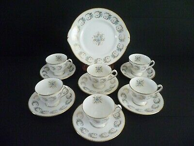 Royal Crown Derby Blue Pimpernel 13 Piece Tea Set A1246 • 36£