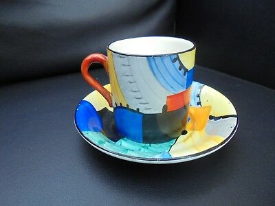 A Susie Cooper CUBIST Coffee Can & Saucer. (Oct 2936). • 185£