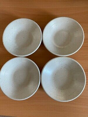 Purbeck Pottery Dover 4 X Coaster Saucers 12cm • 10£