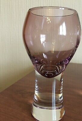"Rare 1 X Vintage Caithness Glass , Canisbay Wine Glass /goblet Heather 5.5"" Vgc. • 9£"