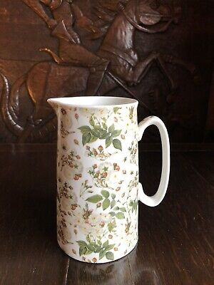 Staffordshire Heron Cross Pottery England  Magnolia  Pitcher Jug/Vase 2 Pint • 15£