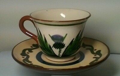 Longpark Torquay Pottery  For Auld Lang Syne  Vintage Cup And Saucer • 12£