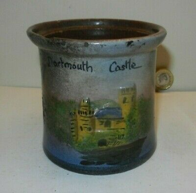 Dartmouth Castle TORQUAY  POTTERY   Lidless Pot A/f • 10£