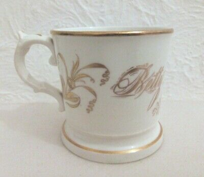 Antique Victorian White China Christening Mug With The Name Betty Jackson • 12.99£