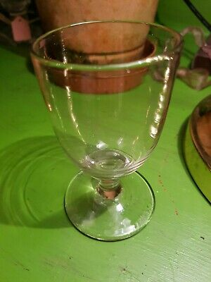 Simple Plain Grey Tinge Vintage Antique Drinking Glass Wine Ale 4 Inch  • 9.99£