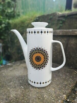 J And G Meakin Inca Coffee Pot - 70s - Vintage  • 13.30£