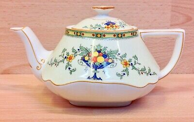 Crown Ducal  Basket Of Fruit  Pattern 1476 Small Teapot. • 24.95£