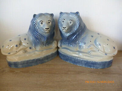 Vintage Rye Pottery Lions (retired) Fabulous Condition - Mothers Day Suggestion • 120£