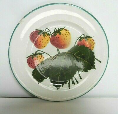 Wemyss   Display Plate With Strawberries Design  14 Cm • 42£