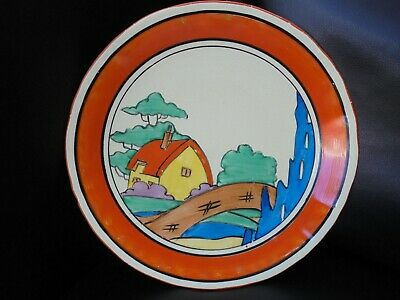 A Clarice Cliff ORANGE ROOF COTTAGE Plate • 240£