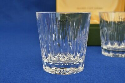 Vintage Pair Of Harrods Boxed Hand Cut Crystal Tumblers - English Cut Glass - • 49.99£