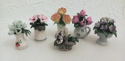 Vintage Miniature Capodimonte Flowers Of The Palace/of The Year  • 14.99£