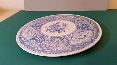 The Spode Blue Room Collection Floral Decorative Plate With Underneath Rim • 3.80£