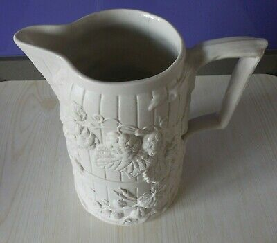 Vintage Copeland Large White Jug - Early 1800s A/F • 39£