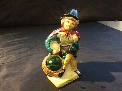 Vintage Manor Ware Welsh Lady Pin Cushion And Thimble Holder Figurine • 10£