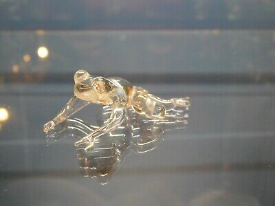 Vintage Clear Glass Frog Ornament • 8.99£