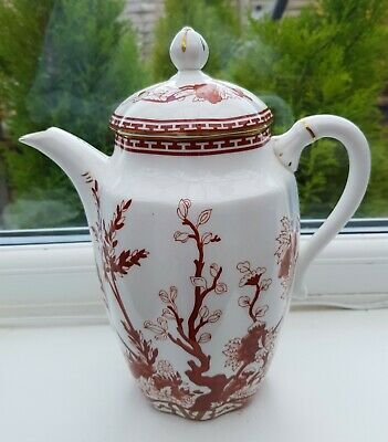 A Coalport 'indian Tree Coral' Large 2 Pint Coffee Pot • 19.99£