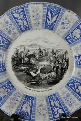 Antique French Transferware Plate • 30£