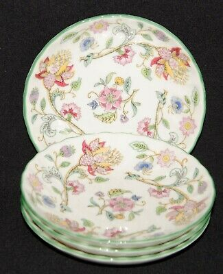 Minton Haddon Hall 4 Butter Pat Dishes 4.5  • 4.95£