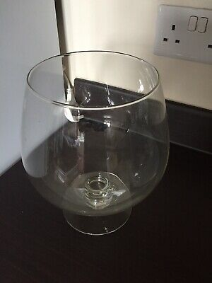 Extra Large Vintage Clear Brandy Glass. • 9.99£