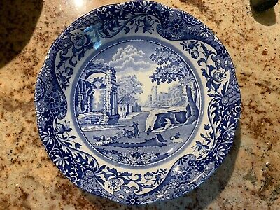 Spode Blue Plates Look Lovely On Wooden Garden Furniture - 9 X 9 Inch Plates • 20£