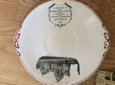 Antique Plate To Celebrate 21 Years Of Shaw Congregational Church - Dated 1906 • 5£