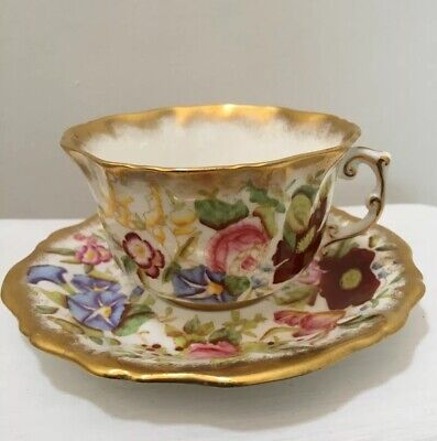 **Early**  Hammersley & Co  'Queen Anne' China Tea Cup & Saucer **Perfect Cond** • 25£