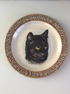 Purbeck Pottery Side Plate With Cat Face Design By Derick Bown • 25£