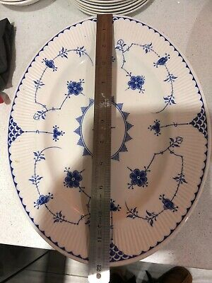 Johnson Brothers Mason's Furnivals  Blue Denmark Oval Serving Plate 12 Inch • 15£