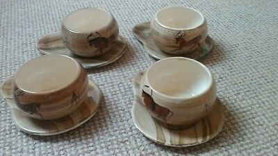 Babbacombe Philip Laureston LAURIANA CAVE ART DESIGN 4 SOUP BOWLS AND DISHES • 26£