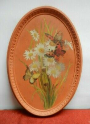 WATCOMBE POTTERY OVAL WALL PLATE 30 Cm • 22£