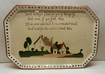 Watcombe Pottery Tray - Cottages Design • 19£