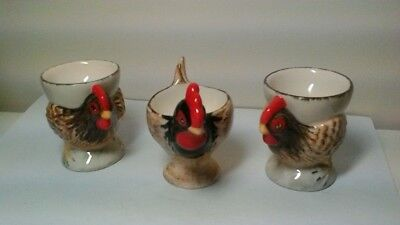 Babbacombe Pottery 3 X Chicken Egg Cups • 18£