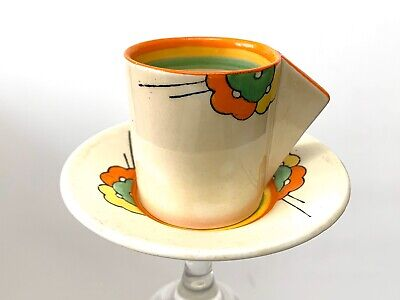 Clarice Cliff 'Bizarre' Coffee Cup And Saucer • 46£