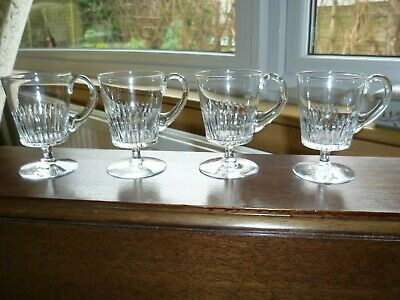 Stuart Crystal Custard Cups X 4 -2 3/8 Ins X 3 5/8 Ins-excellent And So Cute  • 19.99£